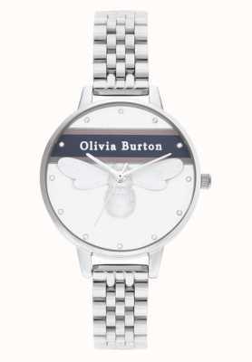 Olivia Burton   Womens   Varsity Lucky Bee   Silver Bracelet   OB16VS07