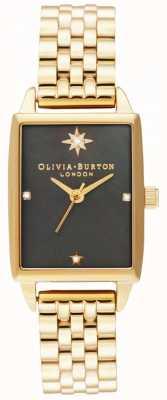 Olivia Burton   Celestial Faux   Black Mother Of Pearl Dial  Gold Bracelet OB16GD60