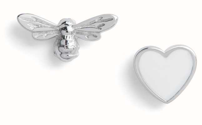Olivia Burton | You Have My Heart | White And Silver | Stud Earrings | OBJLHE46
