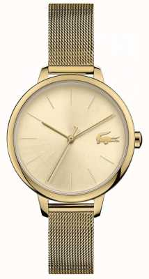 Lacoste Women's Cannes   Gold PVD Mesh   Gold Dial 2001128