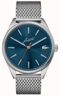 Lacoste Men's Heritage   Stainless Steel Mesh   Blue Dial 2011053