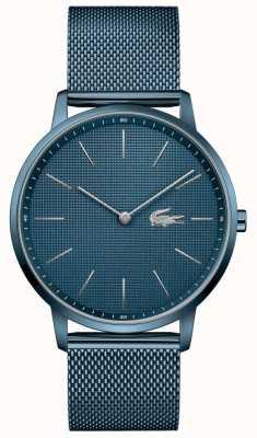 Lacoste Men's Moon   Blue PVD Mesh Bracelet   Blue Dial 2011057