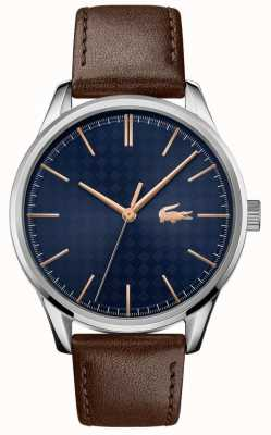 Lacoste Men's Vienna | Brown Leather Strap | Blue Dial 2011046