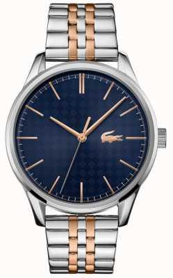 Lacoste Men's Vienna   Two Tone Stainless Steel Bracelet   Blue Dial 2011048