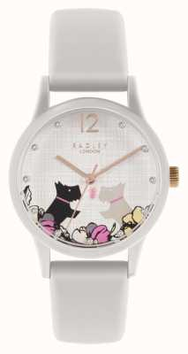 Radley | Women's Off White Silicone Strap | Floral Dog Motif Dial | RY2986