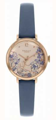 Radley | Women's Navy Leather Strap | Floral Print Dial | RY2978