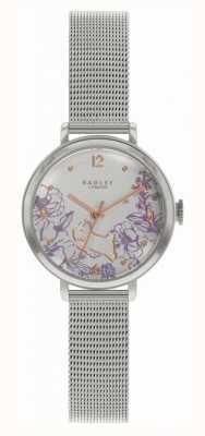 Radley   Women's Steel Mesh Bracelet   Floral Print Dial RY4523