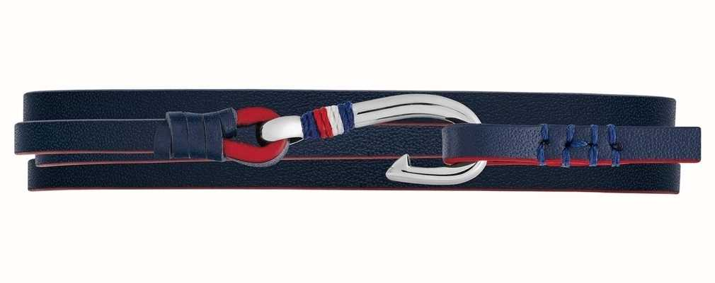 Tommy Hilfiger | Casual | Blue Nautical Wrap Leather Bracelet | 2790190S