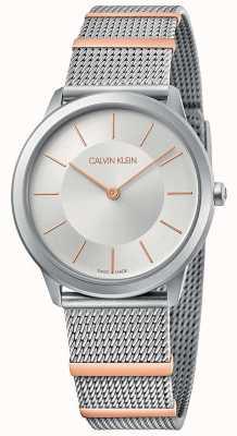 Calvin Klein   Minimal   Steel Mesh Bracelet   Silver Dial   35mm K3M521Y6