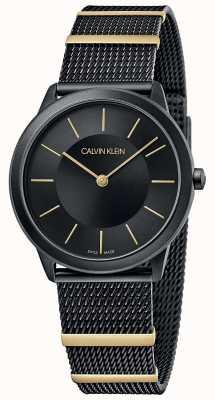 Calvin Klein | Minimal | Black Mesh Bracelet | Black Dial | 35mm K3M524Z1