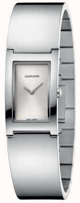 Calvin Klein   Polish   Stainless Steel Bracelet   Silver Rectangle Dial K9C2N116