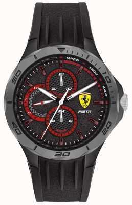 Scuderia Ferrari | Men's Pista | Black Rubber Strap | Black Dial 0830725