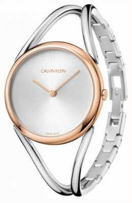 Calvin Klein Lady   Stainless Steel Bracelet   Silver Dial   KBA23626