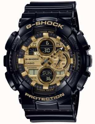 Casio G-Shock World Time | Black Rubber Strap | GA-140GB-1A1ER