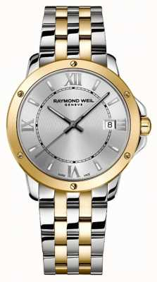 Raymond Weil Men's   Tango   2 Tone Steel Bracelet   Silver Dial 5591-STP-00657