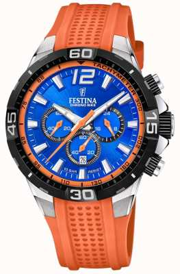 Festina Chrono Bike 2020 Blue Dial Orange Strap F20523/6