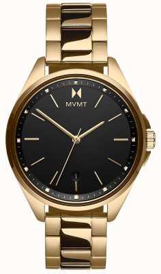 MVMT   Women's  Coronada   Gold-Tone Steel Bracelet   Black Dial 28000005-D