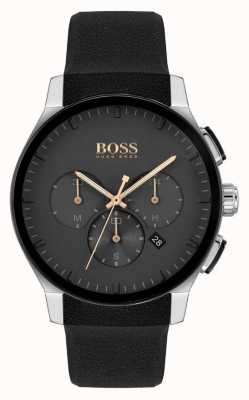BOSS | Men's Peak | Black Silicone Strap | Black Dial 1513759