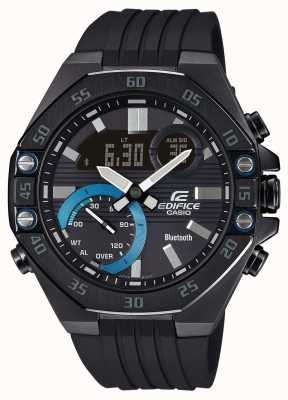 Casio Edifice | Black Rubber Strap | Smartphone Link | Bluetooth ECB-10PB-1AEF