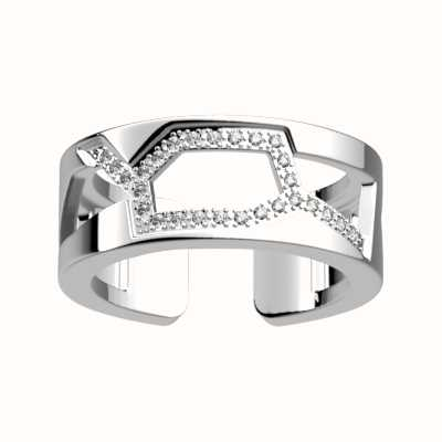 Les Georgettes 8mm Girafe Silver Plated CZ Ring (56) 70321261608054