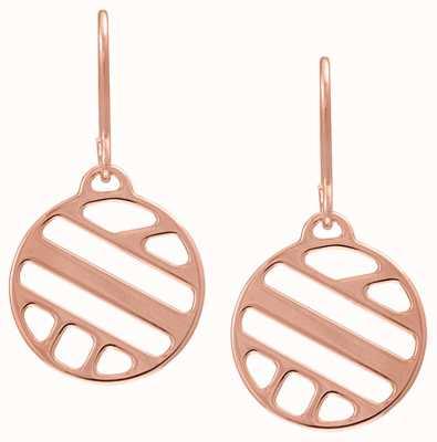 Les Georgettes 16mm Ruban Rose Gold Sleeper Earrings 70318954100000