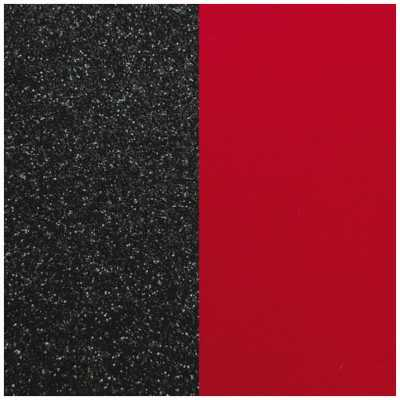 Les Georgettes 12mm Vinyl Insert | Ring | Black Glitter/Red 703018584CG000