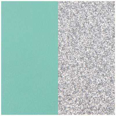 Les Georgettes 43mm Vinyl Insert | Earrings | Aqua/Silver Glitter 703218484CX000