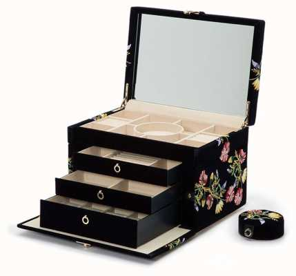 WOLF Zoe Indigo Large Jewellery Box 393016