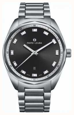 Favre Leuba Sky Chief Date | Stainless Steel Bracelet | Black Dial 00.10201.08.11.20