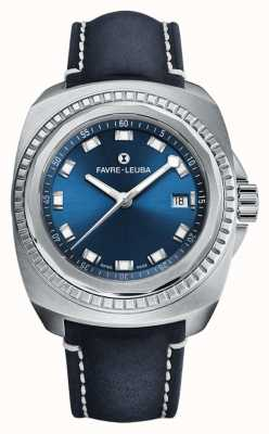 Favre Leuba Raider Sea King | Blue Dial | Blue Antelope Leather 00.10107.08.51.46