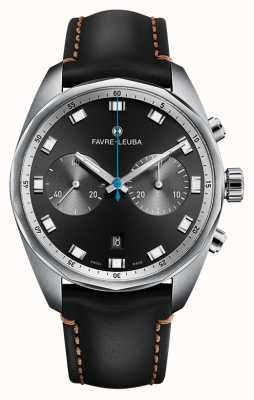 Favre Leuba Chief Sky Chief Chronograph | Black Leather Strap 00.10202.08.11.41