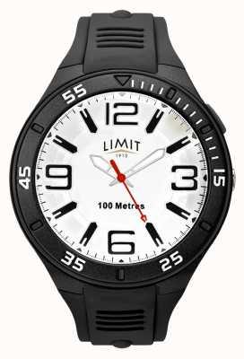 Limit Men's Black Rubber Strap | White Dial 5796.65