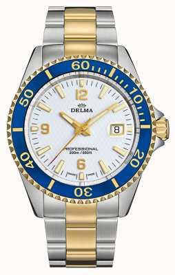 Delma Santiago Quartz | Two-Tone Steel Bracelet | White Dial 52701.562.6.014