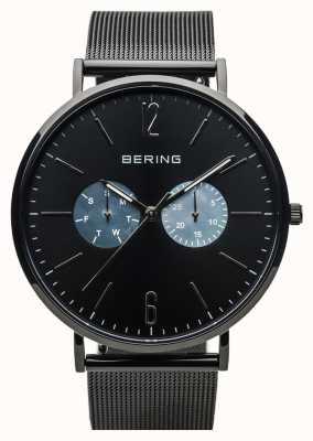 Bering Unisex Classic | Polished Black | Black Mesh Strap 14240-123