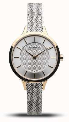 Bering Women's Classic | Polished Gold | Silver Mesh Bracelet 17831-010