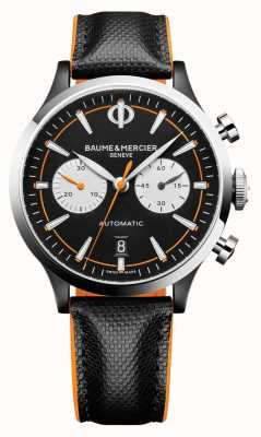 Baume & Mercier Capeland | Men's | Automatic | Black Leather | Black Dial M0A10451