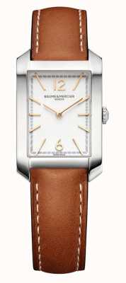Baume & Mercier Hampton Rectangle | Women's | Brown Leather | Silver Dial M0A10472