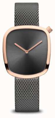 Bering Classic | Pebble | Grey Mesh Bracelet | Grey Dial 18034-369