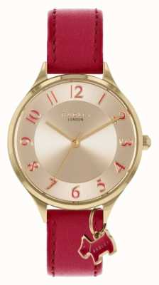 Radley Saxon Road | Red Leather Strap | Silver Dial RY2968