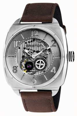 Briston Streamliner Skeleton Auto | Stainless Steel | Brown Leather 201042.S.SK.2.C