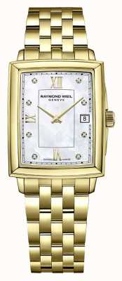Raymond Weil Women's Toccata | Gold PVD Plated Bracelet |Diamond Set Dial 5925-P-00995