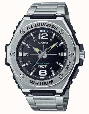 Casio Illuminator | Black Dial | Stainless Steel | MWA-100HD-1AVEF