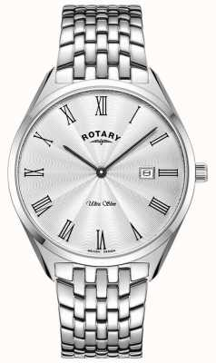 Rotary Ultra Slim Silver Stainless Steel Watch GB08010/01
