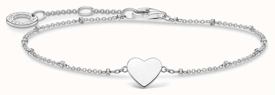 Thomas Sabo Silver Heart Motif Bracelet | 925Sterling Silver | 16-19cm A1991-001-21-L19V