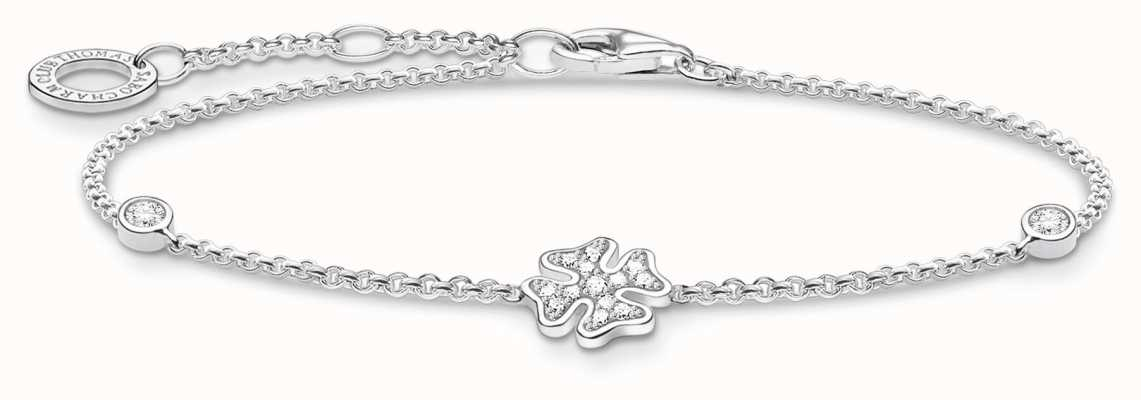 Thomas Sabo Silvr Cloverleaf Stone Bracelet   925 Sterling Silver   A1993-051-14-L19V