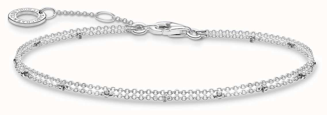 Thomas Sabo Double Stranded Silver Bracelet | 925 Sterling Silver | A1997-001-21-L19V