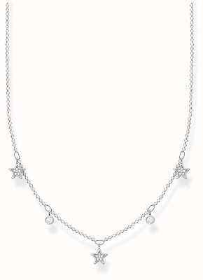 Thomas Sabo Sterling Silver Star Necklace | White Stones KE2075-051-14-L45
