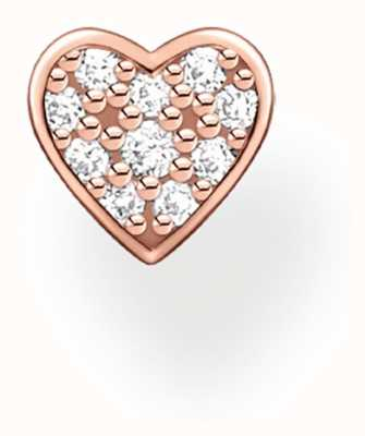 Thomas Sabo 18k Rose Gold Plated Single Heart Stud Earring H2145-416-14