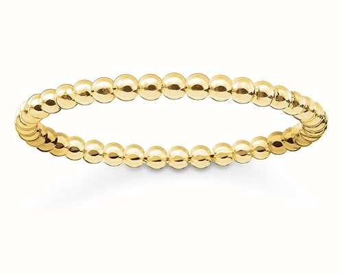 Thomas Sabo Glam And Soul | 18k Yellow Gold Plated Ring  EU 52 (UK L 1/2) TR2122-413-12-52