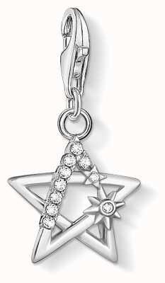 Thomas Sabo Charming | Sterling Silver Star Charm Pendant | Silver Stones 1850-051-14